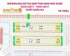 Bán mới dự án Nam Hòa Xuân, chiết khấu 8%, giá chỉ từ 666tr